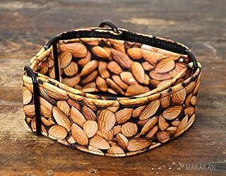 Collare per cani martingale: Almonds, fatto a mano in Spagna da Wakakán