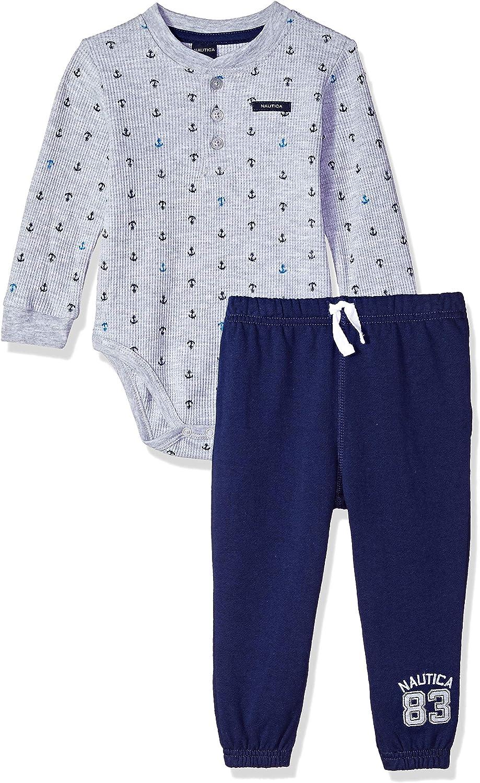 Nautica Baby Boys' 2 Pieces Creeper Pants Set