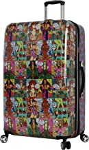 Betsey Johnson 30 Inch Checked Luggage Collection - Expandable Scratch Resistant (ABS + PC) Hardside Suitcase - Designer Lightweight Bag with 8-Rolling Spinner Wheels (Girls Print)