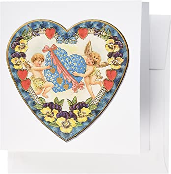 VALENTINE 3D Pop-Up Card ~ CUPID ANGELS /& HEART ~ Blank Fast Free US Shipping