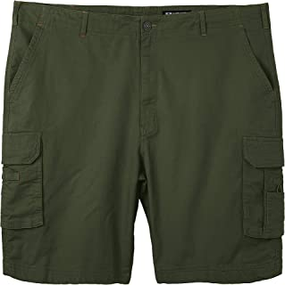 Men's Big and Tall Lightwight Cotton Twill Casual Cargo Shorts