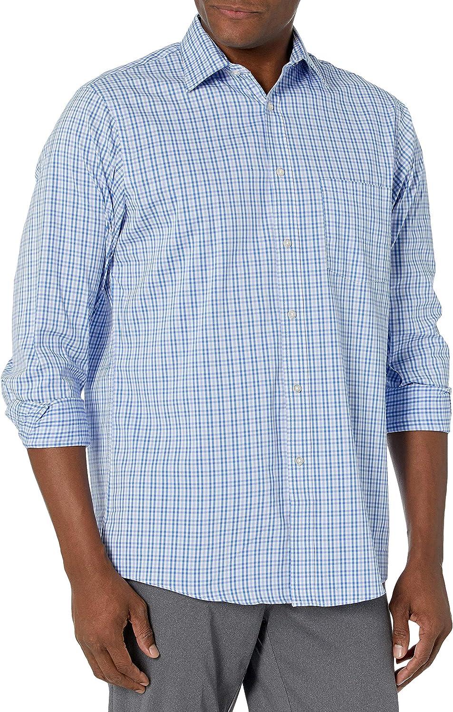 Arrow 1851 Men's Dress Shirt Manufacturer OFFicial National uniform free shipping shop Stretch Fit Regular Check