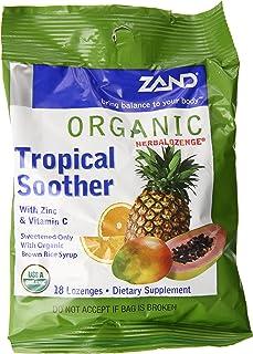 Zand Herbalozenge Organic, Tropical, 18 Count (Pack of 3)