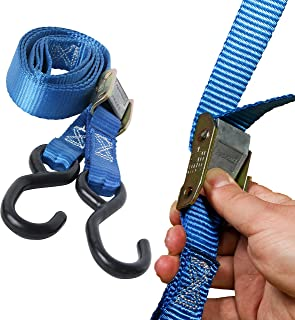 """DC Cargo Mall 2 Motorcycle Kayak Tie-Down Cam Straps 1"""" x 9' Strong TieDown Straps with Durable Polyester and Vinyl-Coated..."""