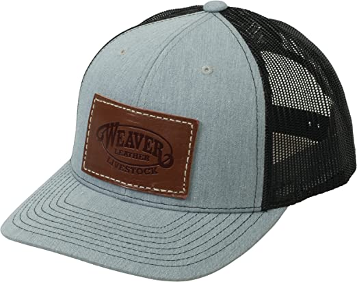 Weaver Leather Livestock Mesh Back Cap with Leather Patch