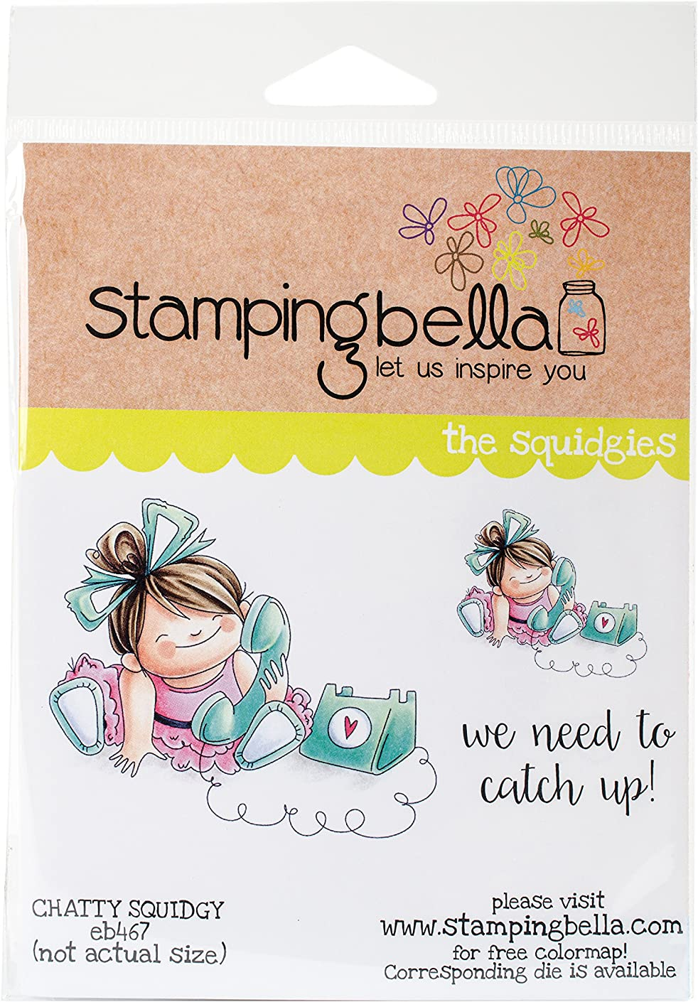 Stamping Bella EB467 Cling Stamps-Chatty Squidgy