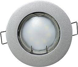 lot de 3 sevenon LED 64530/downlights SMD encastrables extra-plat int/égr/é 3.5/x 8.5/x 8.5/cm 4/W aluminium mat