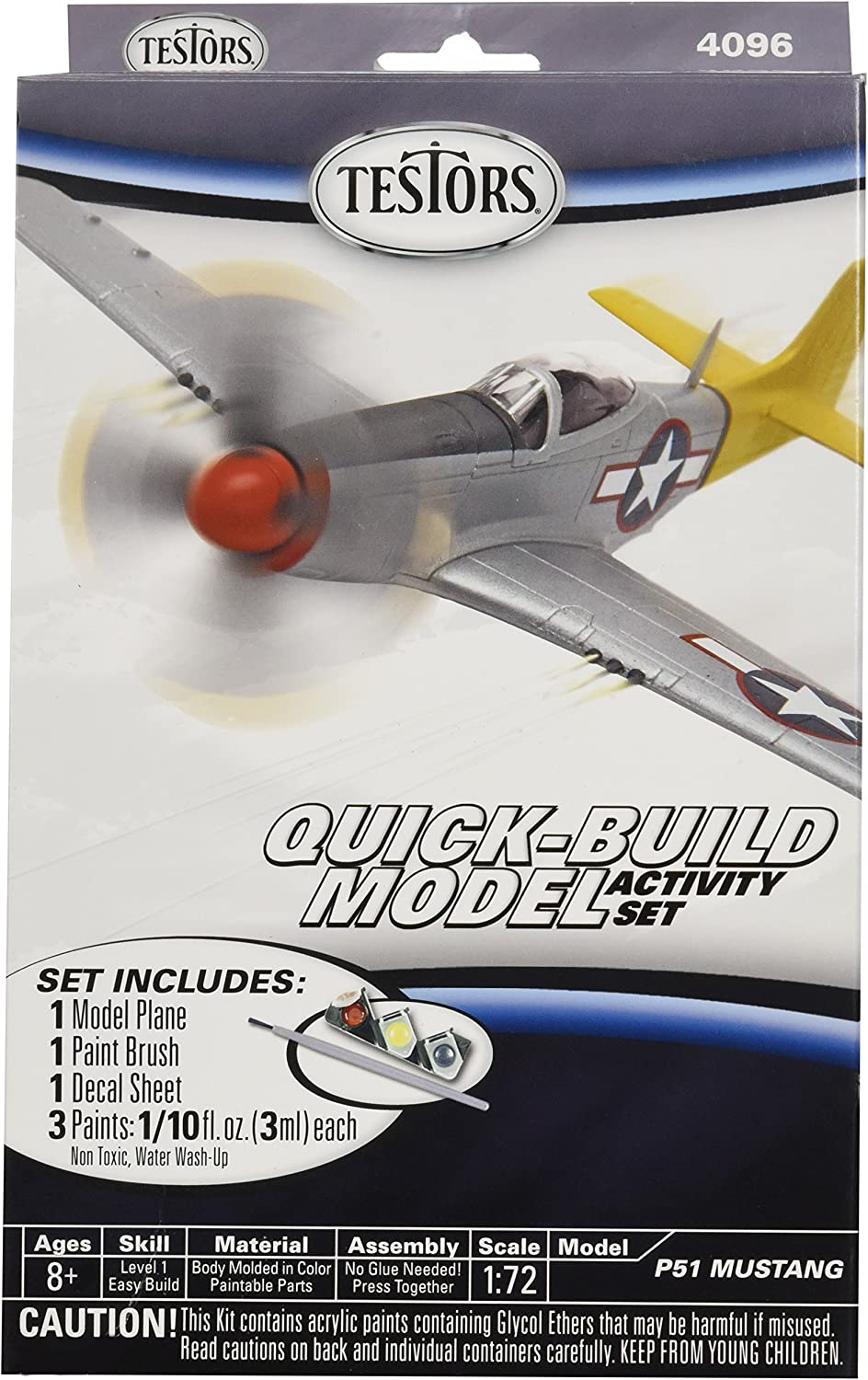 Testors P51 Mustang Quick Build Aircraft Model Kit (1 72 Scale)