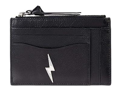 Rebecca Minkoff Top Zip Card Case (Black) Handbags