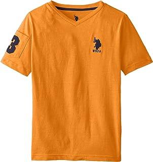 U.S. Polo Assn. Boys` Solid V-Neck T-Shirt