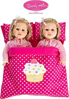 Beverly Hills Reversible Doll twin/friend sleeping bag Fits American girl 18'' Doll