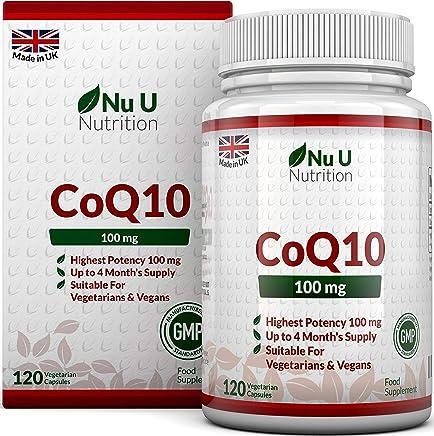 CoQ10 da 100 mg   120 Capsule di Coenzima Q10   Integratori alimentari Nu U Nutrition