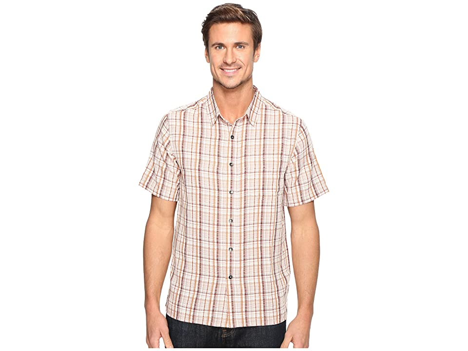Royal Robbins Pilat Plaid Short Sleeve Shirt (Crimson) Men