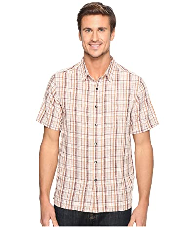 Royal Robbins Pilat Plaid Short Sleeve Shirt (Crimson) Men