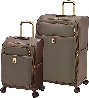 LONDON FOG Kensington II Softside Expandable Spinner Luggage, Bronze, 2-Piece Set (25/29)