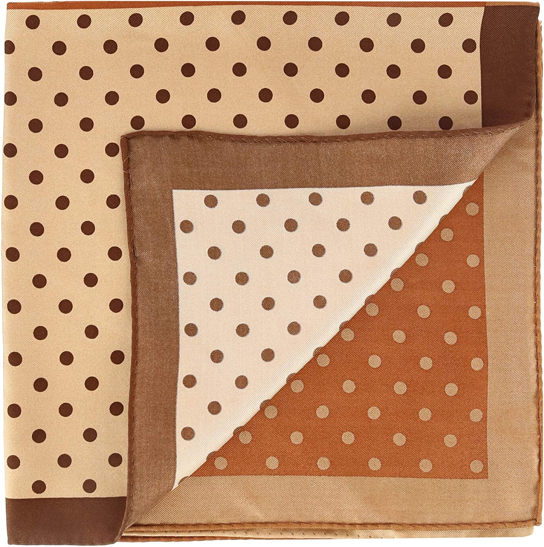Trafalgar Men's Silk Polka Dot Pocket Squares
