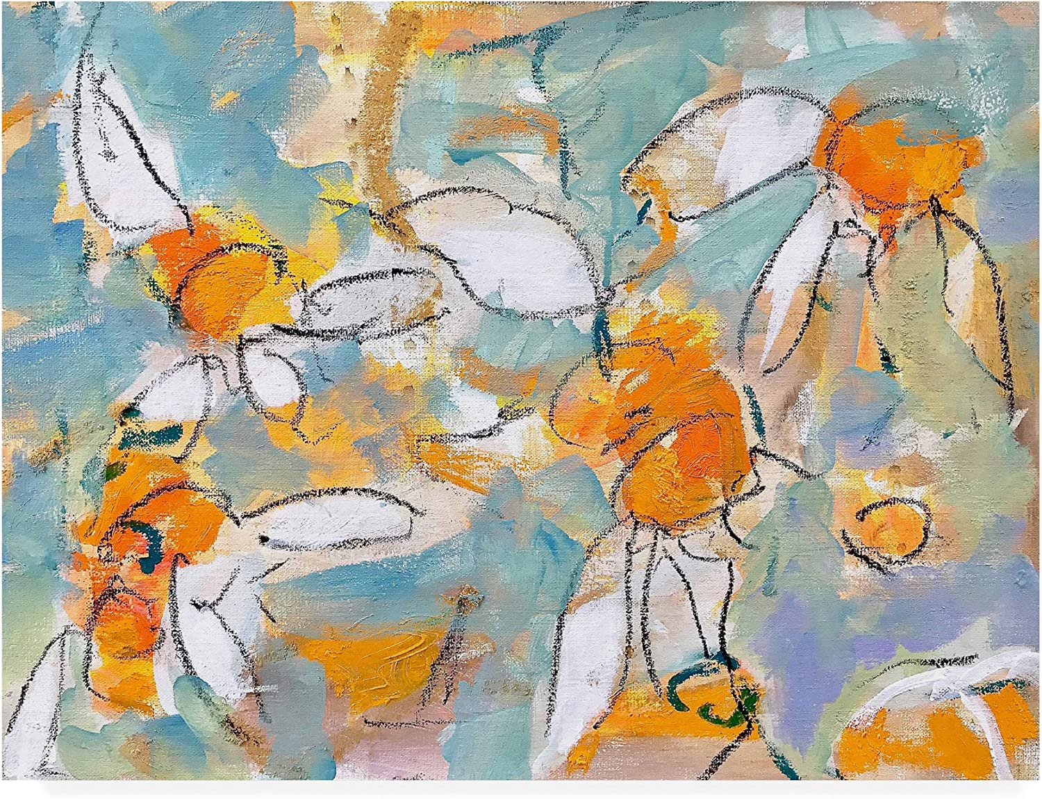 Trademark Fine Art IC00051C1419GG Summer Daisies by Per Ander, 14x19 Multiple