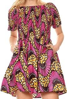 off the shoulder ankara dress