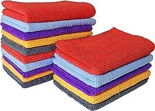 SOFTSPUN Microfiber Cloth - 15 pcs - Small - 20x30 cms - 340 GSM Multicolour - Thick Lint & Streak-Free Multipurpose Cloths - Automotive Microfibre Towels for Car Bike Cleaning Washing & Detailing
