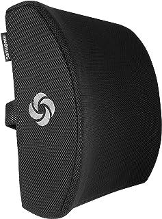 SAMSONITE, Ergonomic Lumbar Support Pillow for Chair - Elevates Lower Back Comfort Zone - 100% Pure Memory Foam - Perfect ...