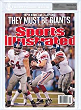 Eli Manning New York Giants 2012 Super Bowl Sports Illustrated Beckett Uncirculated Encased only 40 made