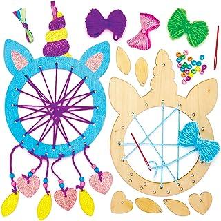 Baker Ross Kits Atrapasueños de Madera Unicornio (paquete de 4) para proyectos de arte y manualidades para niños, surtidos
