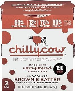 Chilly Cow Chocolate Brownie Batter Light Ice Cream, 16 fl oz (frozen)