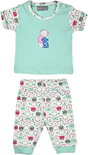 ALM Kids Baby Rompers two piece Half Sleeves Variations Pink and Blue for Baby Boy Baby Girl From New born upto 12 Months