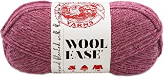 Lion Brand Yarn 620-139 Wool-Ease Yarn, One Size, Dark Rose Heather