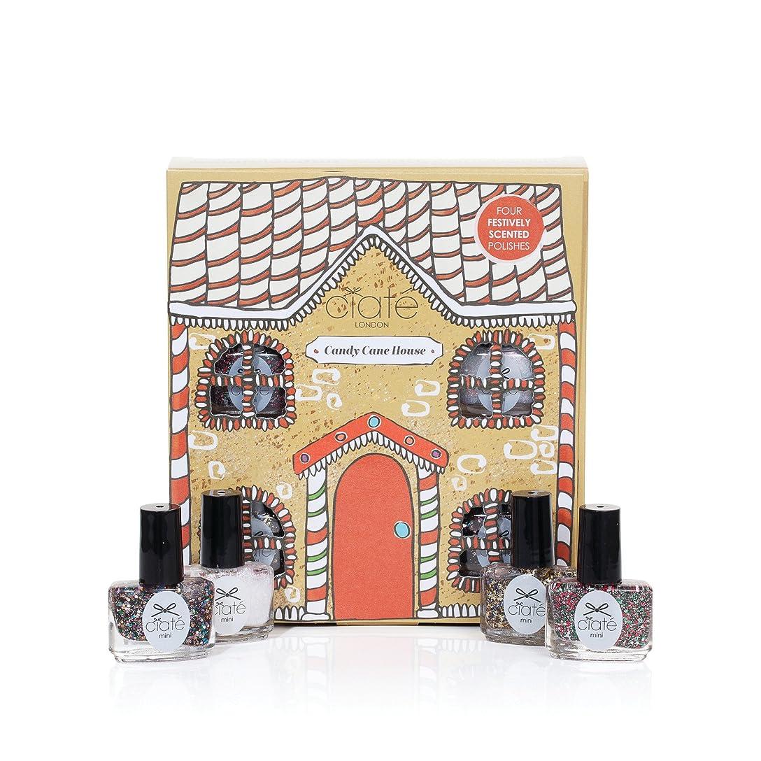 ユーモラス提案するアウターCiate London シアテロンドン キャンディーケイン ハウス Candy Cane House 香り付き ネイル ポリッシュ 5mL×4本入りセット