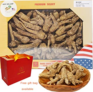 DABC OAK LAND 1LB=453g/Box American Ginseng,Hand-Selected Sun Dried Wisconsin Farmed Ginseng Root   Whole Branch  美国威斯康辛州 整枝西洋参 花旗参 礼盒装   Cultivated Wisconsin American Ginseng WI 061#L Box