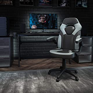 Flash Furniture X10 Gaming Chair Racing Office Ergonomic Computer PC Adjustable Swivel Chair with Flip-Up Arms, Gray/Black...