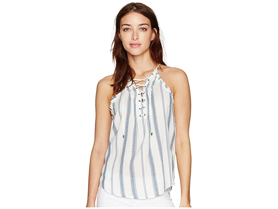 Paige Bria Tank Top (White/Blue Shadow) Women