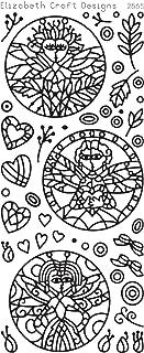 Elizabeth Craft Designs Dragonfly Ladies in Circles Peel-Off Stickers, Black