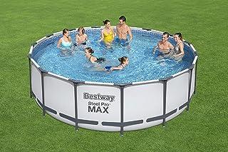 Bestway 56438 - Piscina Desmontable Tubular Steel Pro Max 457x122 cm Depuradora de cartucho de 3.028 litros/hora