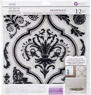Prima Marketing Iron Orchid Designs Decor Clear Stamps -Arabesque, 12