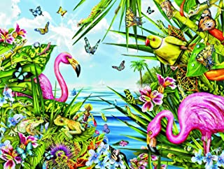 Flamingos by The Sea 500 pc Jigsaw Puzzle by SunsOut