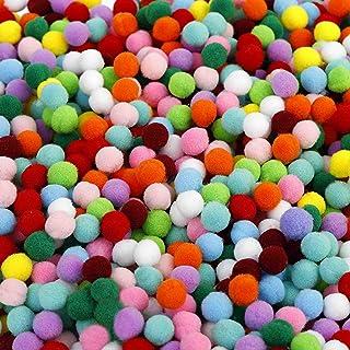 Pompons Artisanat élastique mini pompons décorations boules pour fournitures de loisirs 1cm assortis de couleur pour les e...
