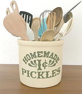 Cocina de Mónica ♥ Bote para utensilios 100% Handmade. Homemade 1 cent Pickles.