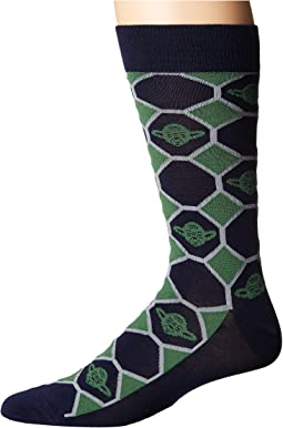Yoda Navy Checker Socks
