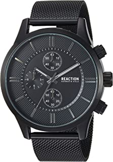 Male Analog-Quartz Watch with Black Strap, Stainless...