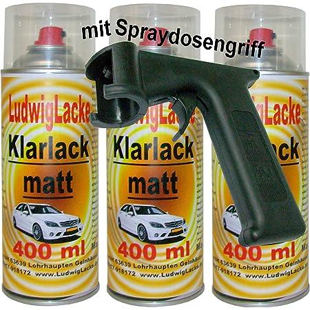 Ludwiglacke 3 Lackspray Schwarz Matt 400 Ml Je Spraydose Spraydosenhandgriff Auto