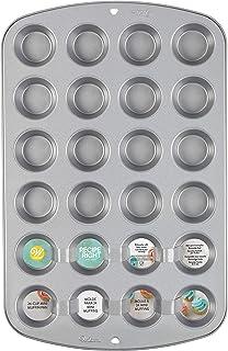 Wilton Recipe Right Molde Mini Muffins para 24 MiniMagdalenas o MiniCupcakes, Antiadherente, 03-0-0017, Aluminio