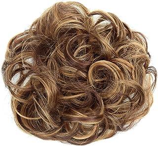 PRETTYSHOP Scrunchie Scrunchy Bun Up Do Hair Piece Hair Ribbon Ponytail Extensions Wavy Curly or Messy Auburn Brown Mix #30H26Auburn Brown Mix #30H26