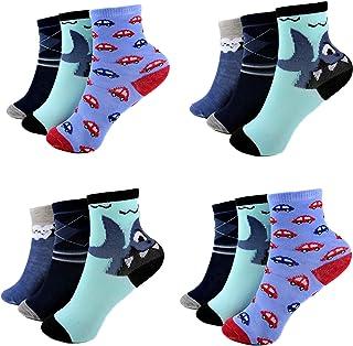 HighClassStyle, 12 pares de calcetines infantiles de algodón A.S-200, talla 23-38 colores diferentes.
