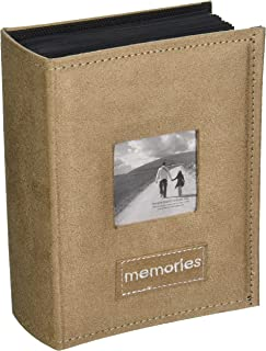 Pioneer Photo Albums PTCH-100 Embroidered Patch Faux Suede 100-Pocket Photo Album, Tan