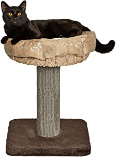 """Midwest Homes for Pets 21.86-Inch Feline Nuvo""""Terrace"""" Fashionable Cat Tree with Removable Lounging Cat Bed, Brown & Tan (..."""
