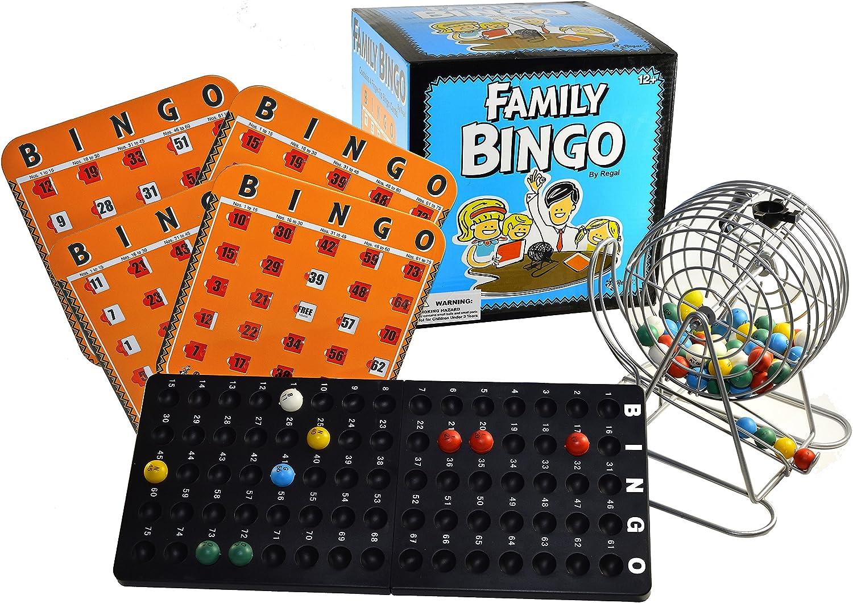 calidad auténtica Family Bingo Set with Shutter Slide Cocheds by Regal Juegos Juegos Juegos  ofreciendo 100%