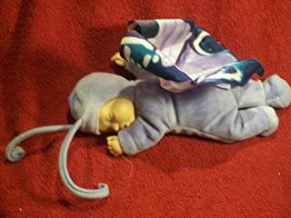 Plush Toy - Anne Geddes - Sleeping Baby With Butterfly Wings Various Blues Stuffed Baby