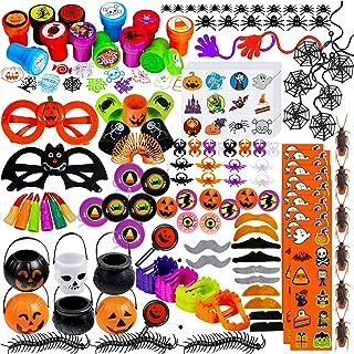 Supla 126 Pcs Halloween Toys Novelty Trinkets Assortment Halloween Prizes Bulk Party Favors Treats Stamps for School Class...